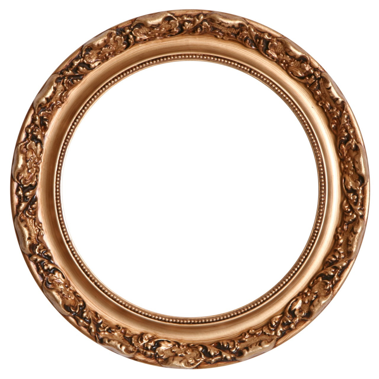 Round Frame In Gold Paint Finish Gold Picture Frames With Antique