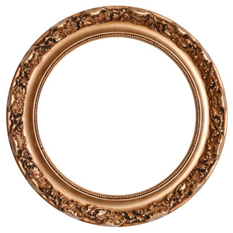 Rome Round Frame # 602 - Gold Paint