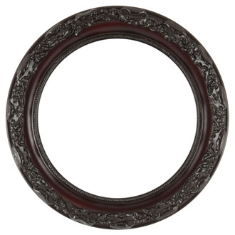 Rome Round Frame # 602 - Rosewood
