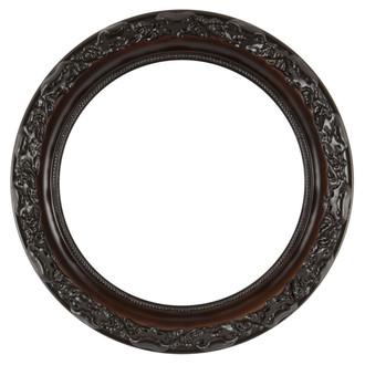 Rome Round Frame # 602 - Walnut