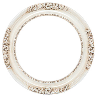 Versailles Round Frame # 603 - Antique White