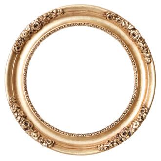 Versailles Round Frame # 603 - Gold Leaf