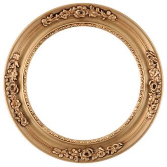 Versailles Round Frame # 603 - Gold Paint