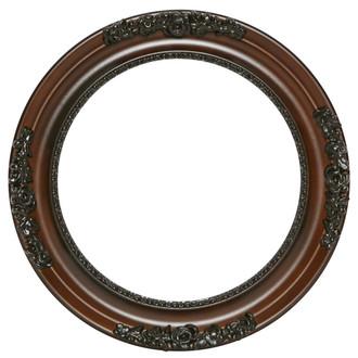 Versailles Round Frame # 603 - Walnut