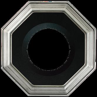 Collector Plate Frame #351 - Silver Leaf (Black Velvet)