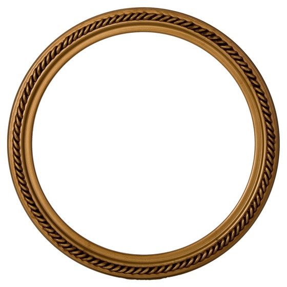 Round Frame In Gold Paint Finish Braided Rope Decals On