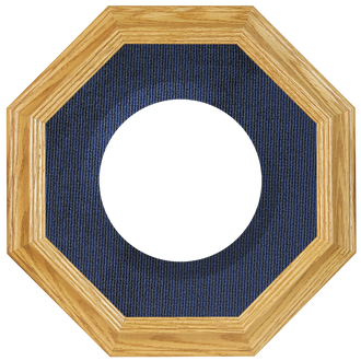 Collector Plate Frame #351 - Honey Oak (Blue Velvet)
