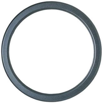 Toronto Round Frame # 810 - Black Silver