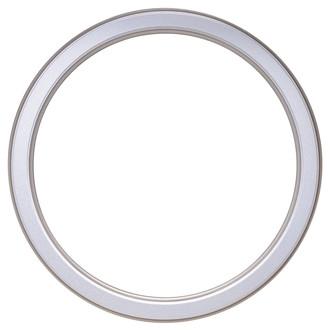 Toronto Round Frame # 810 - Silver Spray