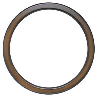 Toronto Round Frame # 810 - Walnut