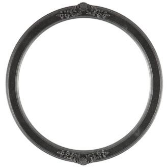 Athena Round Frame # 811 - Black Silver