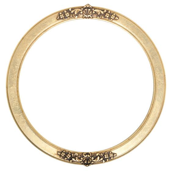 Athena Round Frame # 811 - Gold Leaf