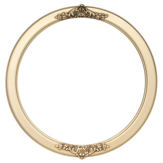 Athena Round Frame # 811 - Gold Spray