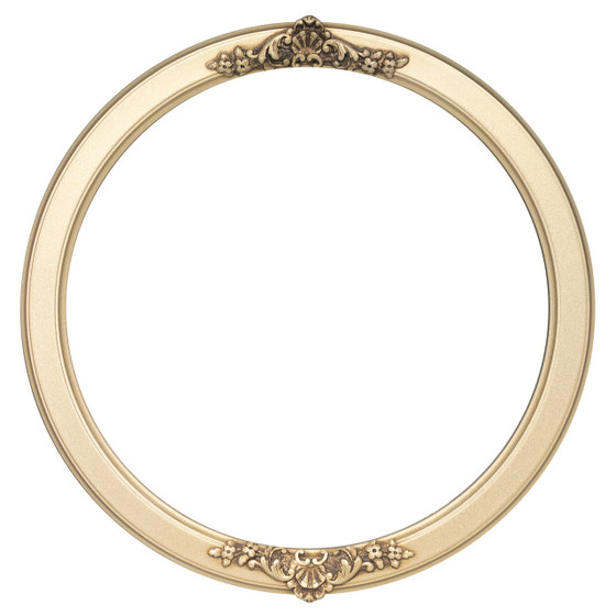 Athena Round Frame # 811 - Gold Spray