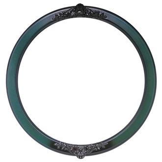 Athena Round Frame # 811 - Hunter Green
