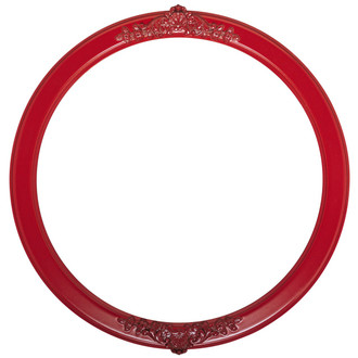 Athena Round Frame # 811 - Holiday Red