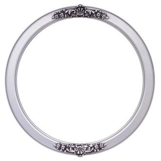 Athena Round Frame # 811 - Silver Spray