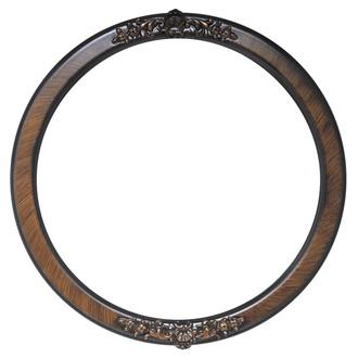 Athena Round Frame # 811 - Vintage Walnut