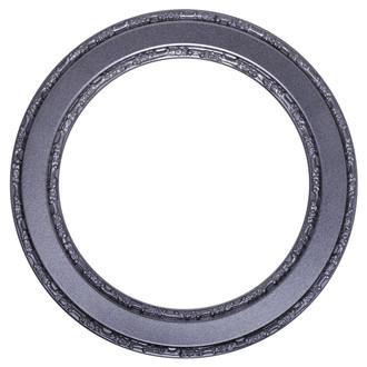 Monticello Round Frame # 822 - Black Silver