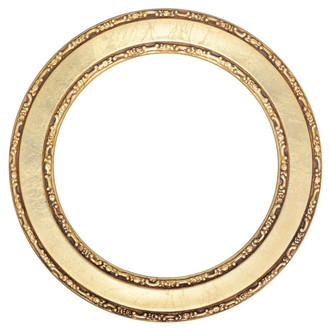 Monticello Round Frame # 822 - Gold Leaf