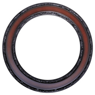 Monticello Round Frame # 822 - Rosewood
