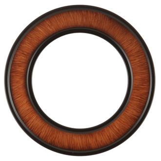 Montreal Round Frame # 830 - Vintage Walnut