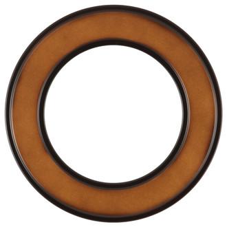 Montreal Round Frame # 830 - Walnut