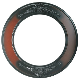 Ramino Round Frame # 831 - Rosewood