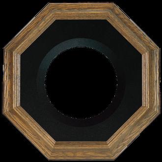 Collector Plate Frame #351 - Toasted Oak (Black Velvet)