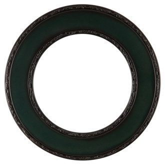 Paris Round Frame # 832 - Hunter Green