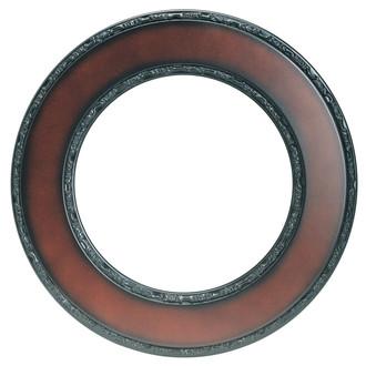 Paris Round Frame # 832 - Walnut