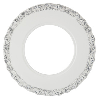 Williamsburg Round Frame # 844 - Linen White