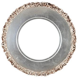 Williamsburg Round Frame # 844 - Silver Leaf with Brown Antique