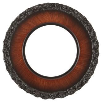 Williamsburg Round Frame # 844 - Vintage Walnut