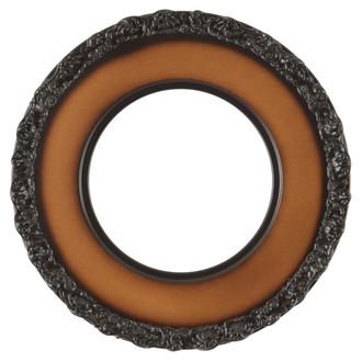 Williamsburg Round Frame # 844 - Walnut