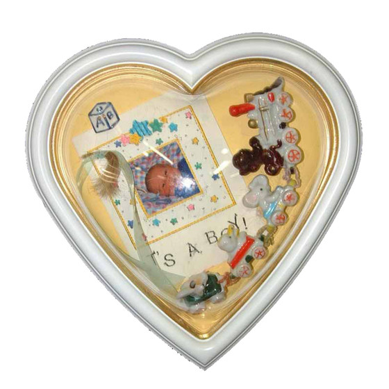 Front View of Heart Shaped Acrylic Glass