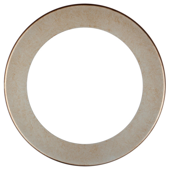 Avenue Round Frame # 862 - Burnished Silver