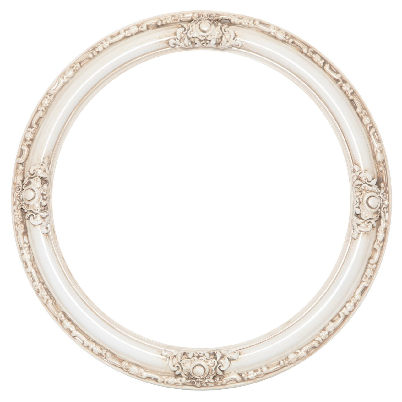 Round Frame In Antique White White Picture Frames With