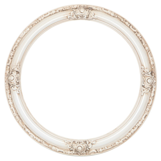 Jefferson Round Frame # 601 - Antique White