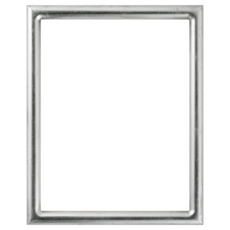 Pasadena Rectangle Frame # 250 - Silver Leaf with Black Antique