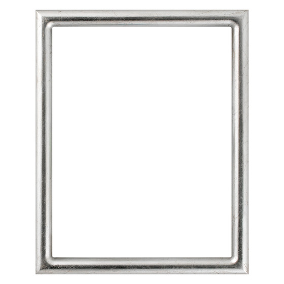 Pasadena Rectangle Frame # 250 - Silver Leaf with Brown Antique