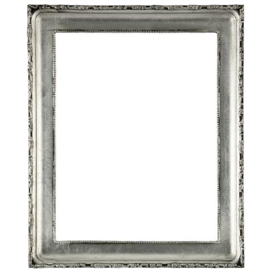Kensington Rectangle Frame # 401 - Silver Leaf with Black Antique
