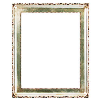 Kensington Rectangle Frame # 401 - Silver Leaf with Brown Antique