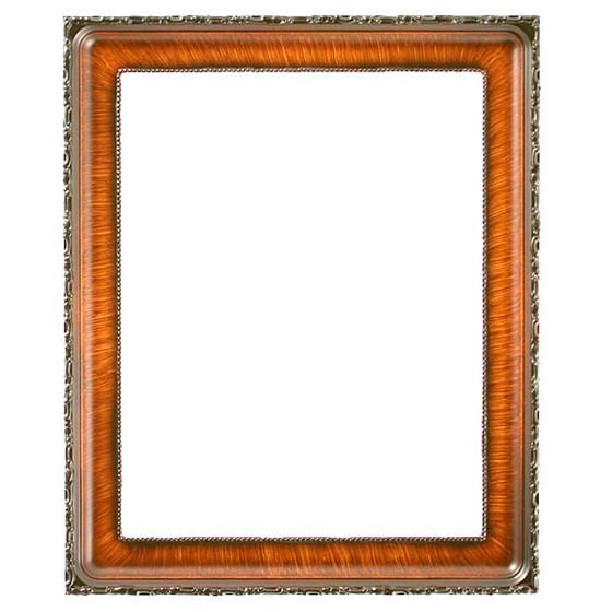 Kensington Rectangle Frame # 401 - Vintage Walnut