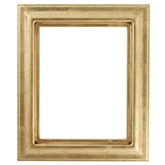 Lancaster Rectangle Frame # 450 - Gold Leaf