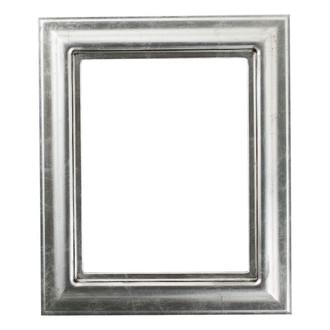 Lancaster Rectangle Frame # 450 - Silver Leaf with Black Antique