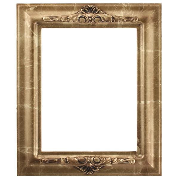 Rectangle Frame In Champagne Gold Finish Antique Goldr