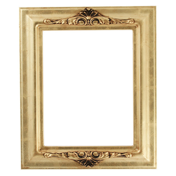 Rectangle Frame In Gold Leaf Finish Antique Gold Picture