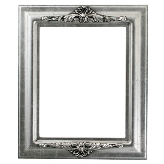 Winchester Rectangle Frame # 451 - Silver Leaf with Black Antique