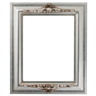 Winchester Rectangle Frame # 451 - Silver Leaf with Brown Antique